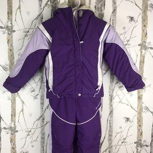 Girls Columbia Snowsuit & Matching Coat Size 6